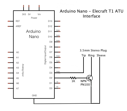 Arduino - Elecraft T1 Interface - Zensunni org